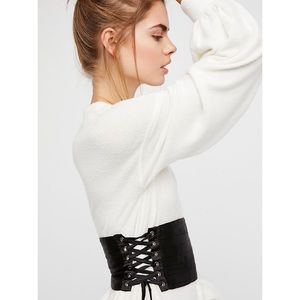 Free People Satin Lace Up Corset Belt